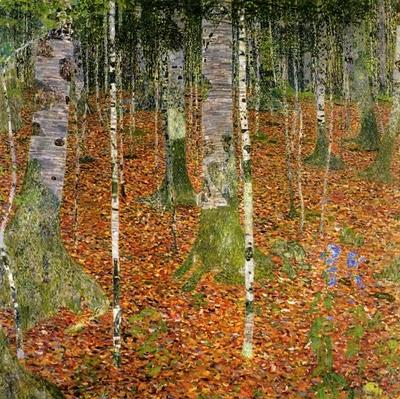 Gustav Klimt 1902 -  Foret de bouleaux