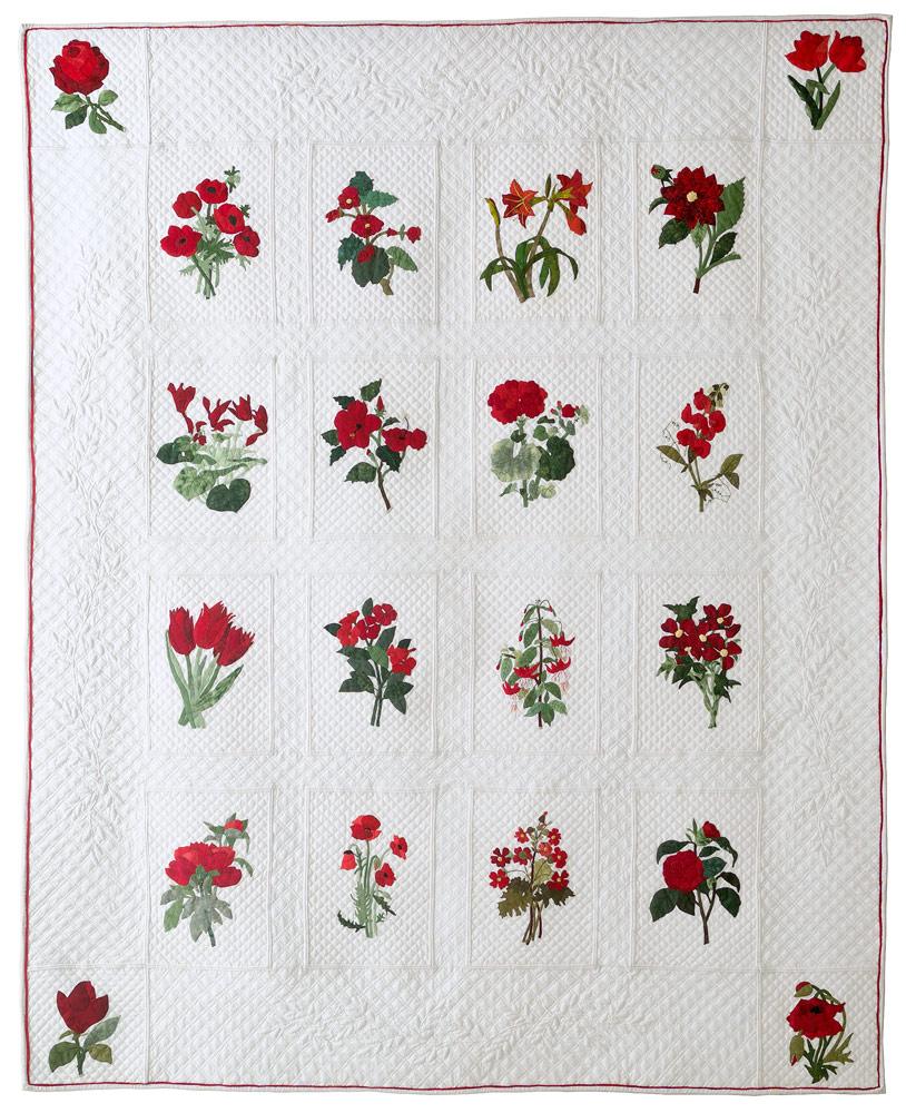 Fleurs rouges Annick Huet