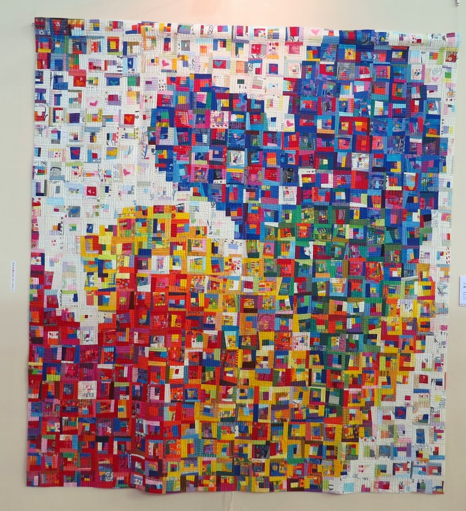 Japan Heart Quilt Stitch Bird