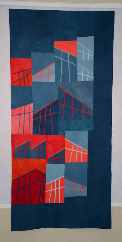 Rooflines #4:The Barns , 36×70 © 2012 Colleen Kole
