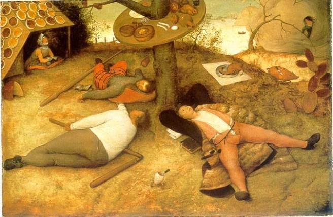 BrueghelLand_of_Cockaignedetail 1567 - Alte Pinakithek München