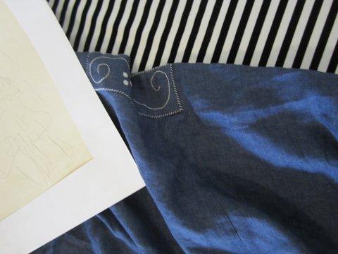 détail blouse klimt