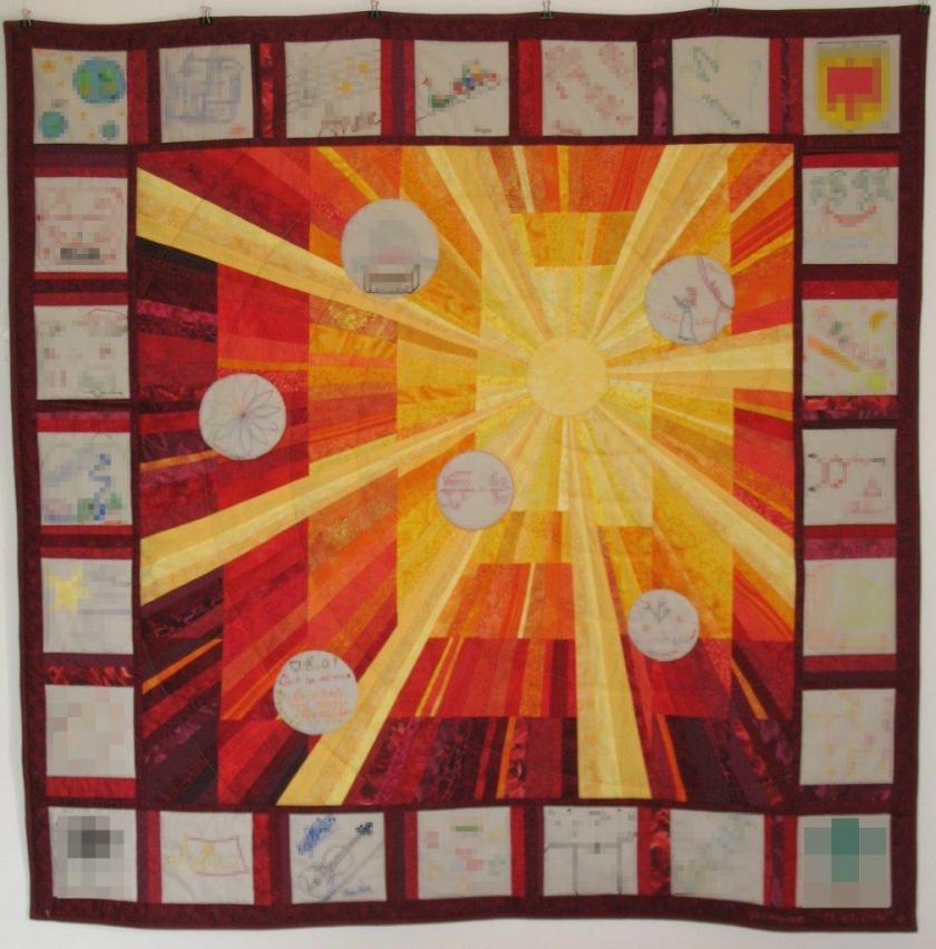 soleil carrés décorés