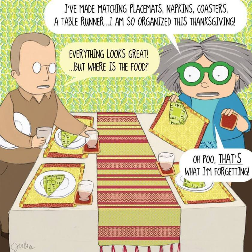 mrs bobbins, Thanksgiving table