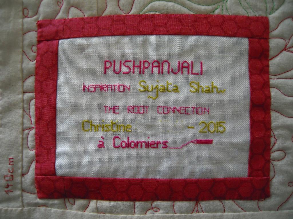 étiquette pushpanjali