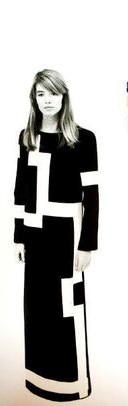 La robe créée pour Françoise Hardy, couturier Marc Bohan chez Christian Dior.