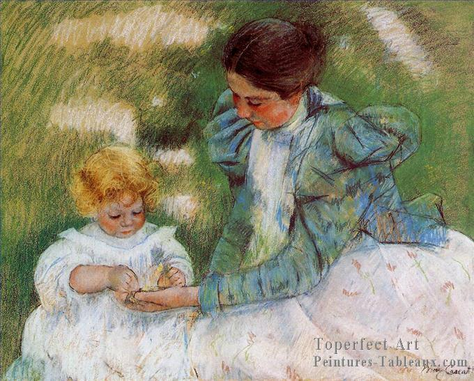 Mary Cassatt - Mère jouant avec son enfant