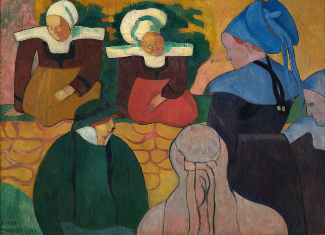 800px-Émile_Bernard_Breton_Women_at_a_Wall