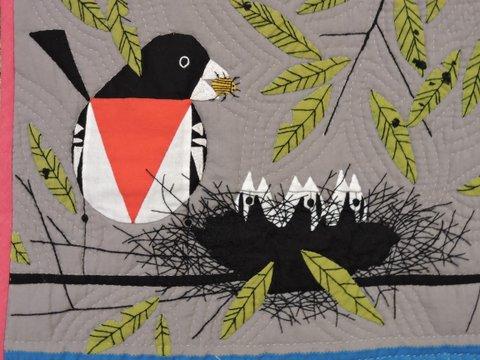 Hommage à Charley Harper, détail, Sylvie Philippart