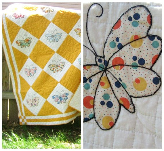 vintage butterfly quilt 30