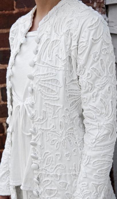 veste blanche al chanin