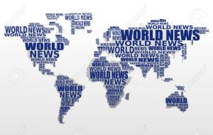 10205176-World-news-concept-Abstract-world-map-made-from-World-news-words-Vector--Stock-Vector