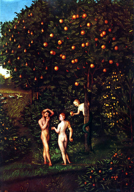 Lucas_Cranach_(I)_-_Adam_and_Eve-Paradise_-_Kunsthistorisches_Museum_-_Detail_Tree_of_Knowledge