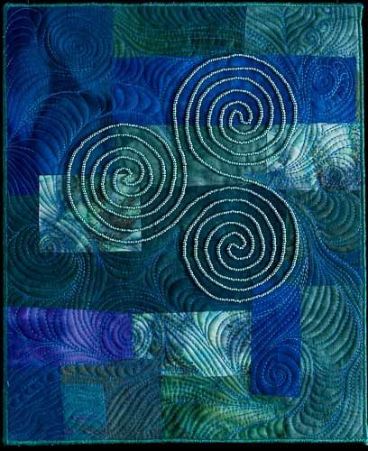 celtic spiral blue
