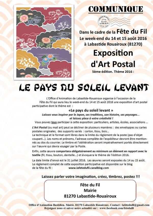 appel-art-postal-labastide-rouairoux-festival-tarn-musée-textile-japon-kimono-bonzai-kawai-artiste-textile-loisirs-créatifs-puces-couturières