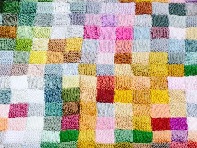 Monet en patchwork de tricot!